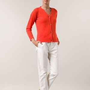 Sofie D'hoore red cashmere cardigan sweater i38 M